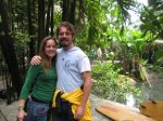 With my sister, Colette, in the tropical biome (©Ian O'Neill)