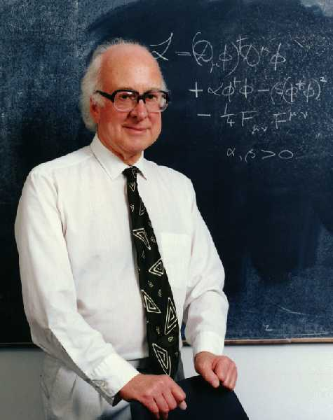 British particle physicist Peter Higgs (as seen in the 1960s), Higgs boson namesake and lead researcher on the Higgs mechanism (Peter Tuffy)