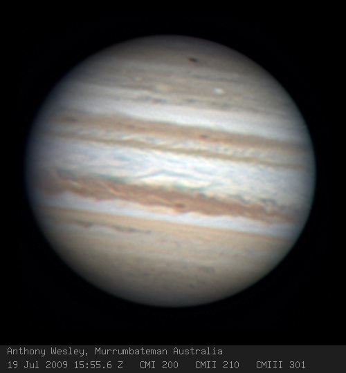 Image captured by Anthony Wesley on 19th July 2009 at 1554UTC from Murrumbateman Australia.