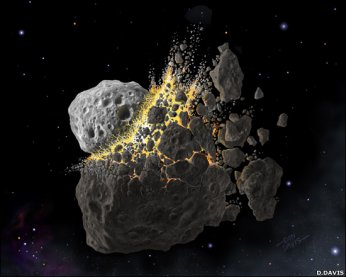Asteroid collisions: Rare, but possible.