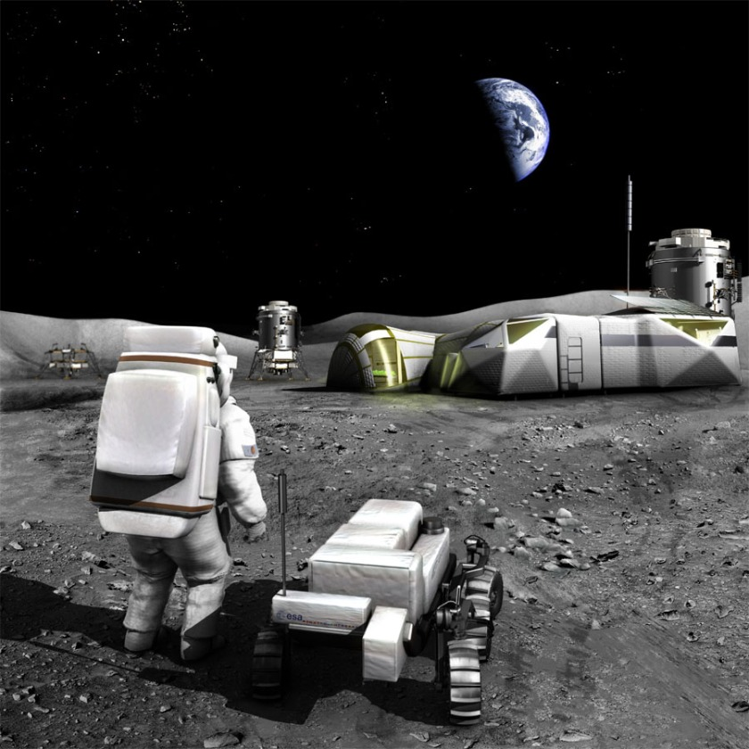 A base on the Moon? That would be awesome! But it can't be done for profit... yet (ESA).