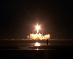 SpaceX's Falcon 9 carries the Dragon capsule to orbit (NASA TV)