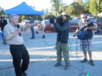 Astronomers Without Borders' president and founder Mike Simmons talks during the Venus transit.