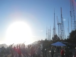 The crowds of astronomers atop Mt. Wilson, Calif., during the Astronomers Without Borders Venus transit event on June 5, 2012.