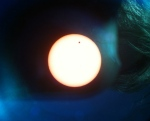 The Venus transit taken with my iPhone 3GS through a telescope eyepiece atop Mt. Wilson on June 5, 2012.