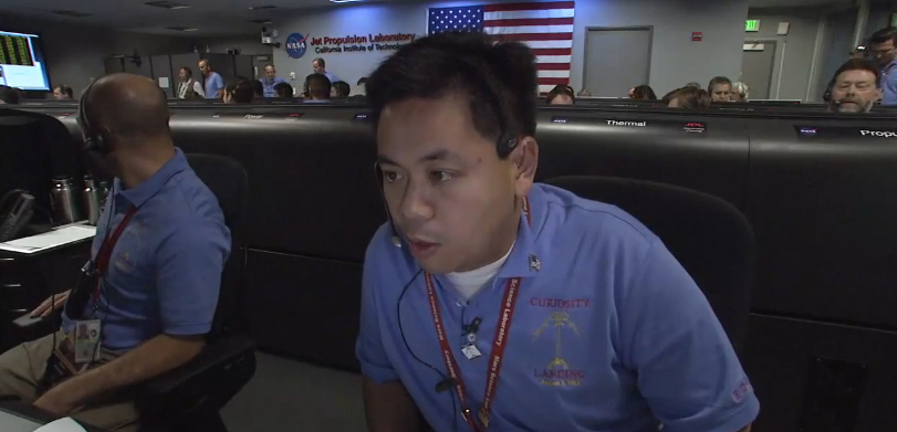 JPL's Allen Chen, the Flight Dynamics and Operations Lead for the Mars Science Laboratory Entry, Descent, and Landing team. Credit: NASA/JPL