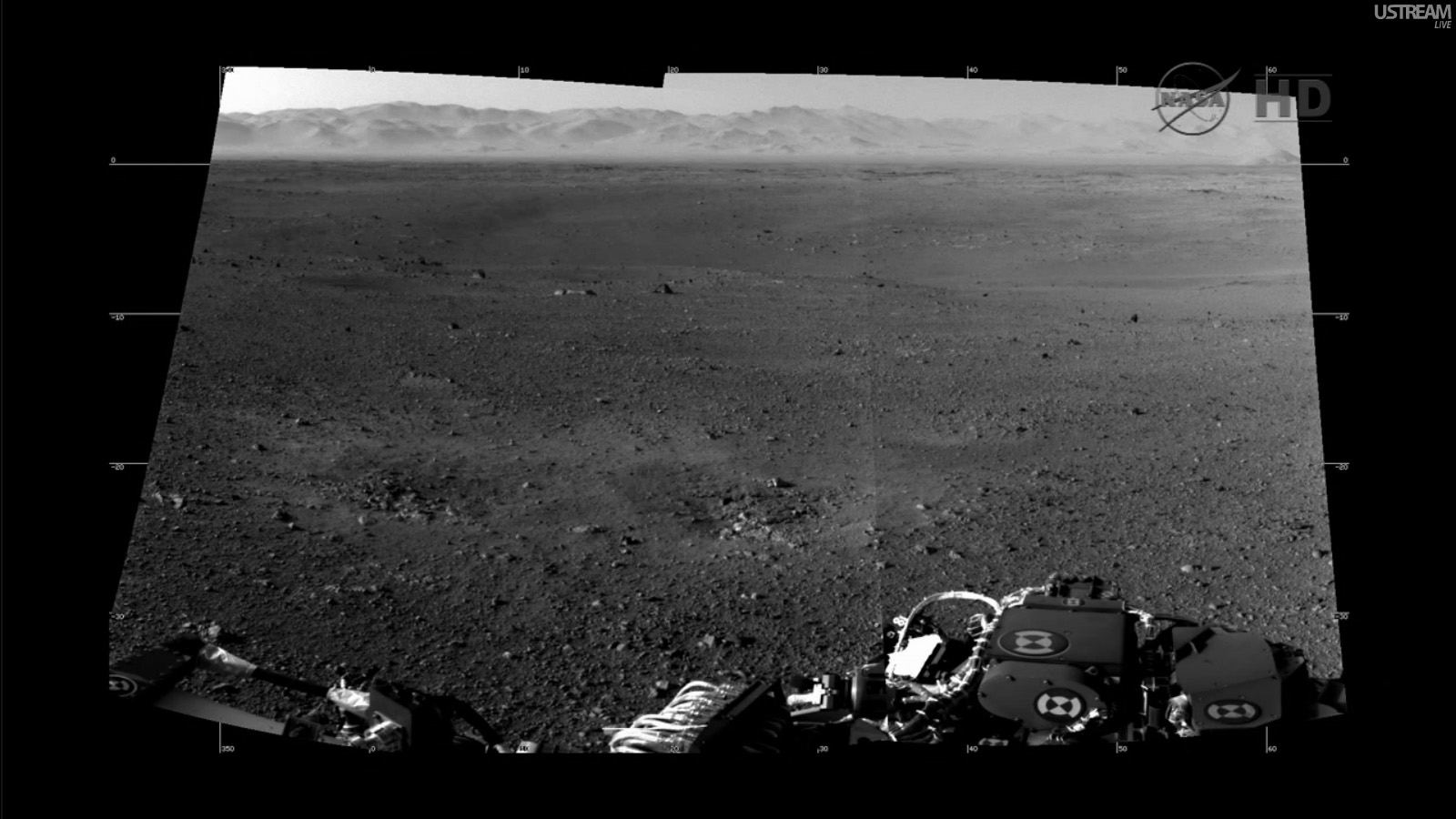 The view from Curiosity's Navcam -- panorama mosaic of Gale Crater. Credit: NASA/JPL-Caltech