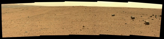 Panorama mosaic taken by Curiosity's Mastcam on Sol 413 of its mission inside Gale Crater. Credit: NASA/JPL-Caltech/MSSS