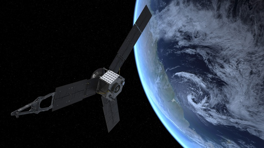 Artist's impression of the Juno flyby (NASA)
