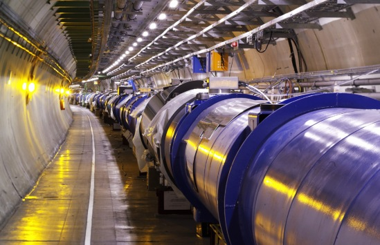 A segment of the Large Hadron Collider's super-cooled electromagnets. Credit: CERN/LHC